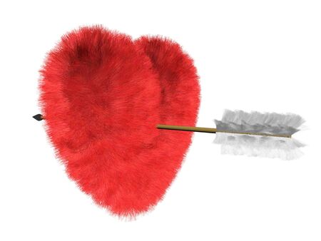 Hitted heart Stock Photo