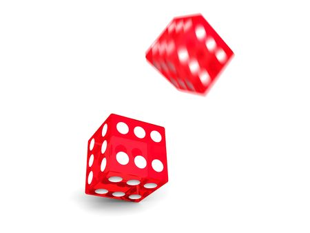 Motion dice Stock Photo