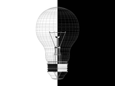 Conceptual drawing of the light bulb Stock Photo