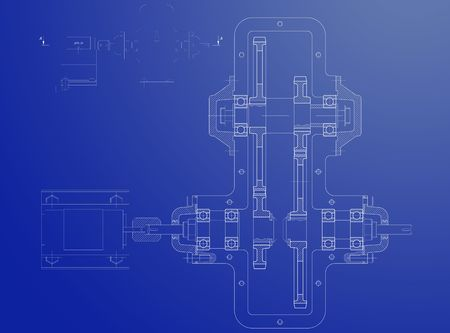 reducing: Blueprint of the reducing gear