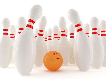 Bowling ball in a trap