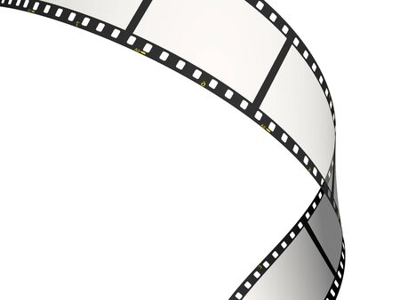 Single bend of the film Stock Photo