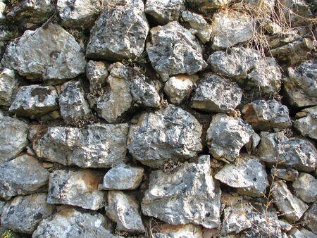 mottle: Vecchio muro costruito da grigio pietra Archivio Fotografico