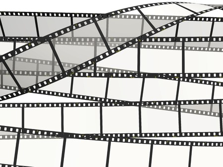 Background consisting of movie films Stock Photo
