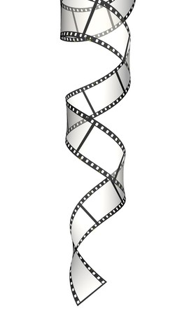 Vertical ribbon of the film Stock Photo - 4254173