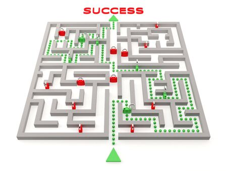 Difficult way to success. Concept.