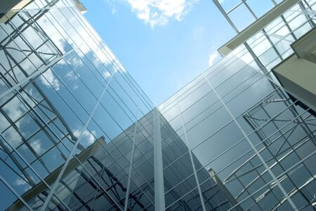 Glass facade of the business building Stock Photo