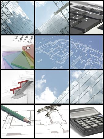 Eight ideas of architect are in twelve cells