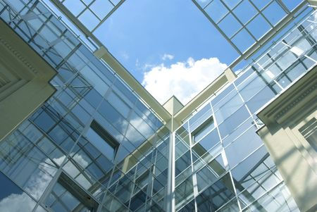 Business centre with glass walls