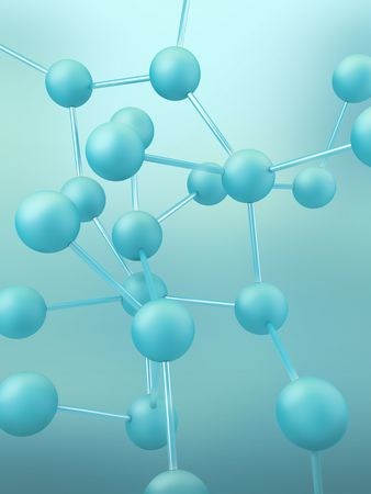 Conceptual view of molecular connection on abstract background