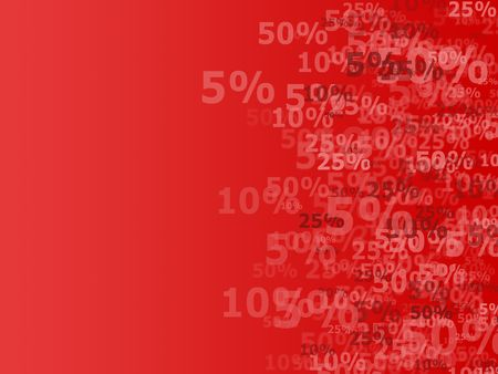Discount background in red tints Stock Photo