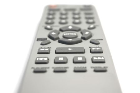 Remote control unit isolated on white Stock Photo