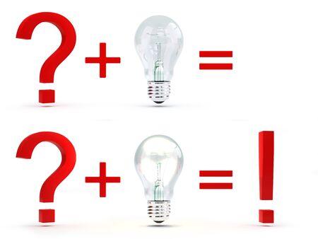 Task illustration. An alight bulb symbolizes an idea.