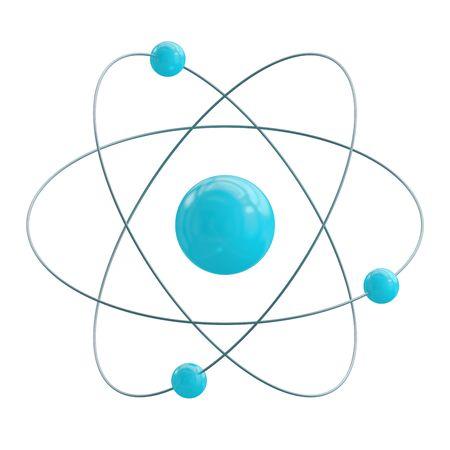 Orbital model of atom isolated on white