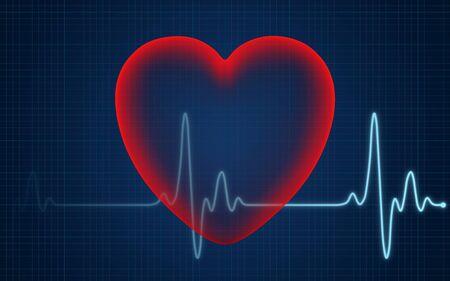 Heartbeat conceptual illustration