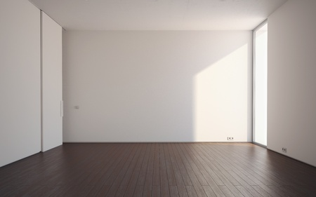 New empty room without any furniture