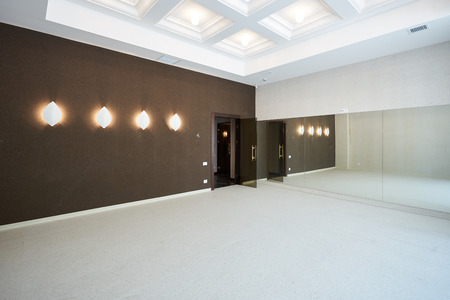 Modern training dance hall interior