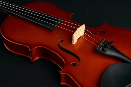 Classical brown violin Stock Photo