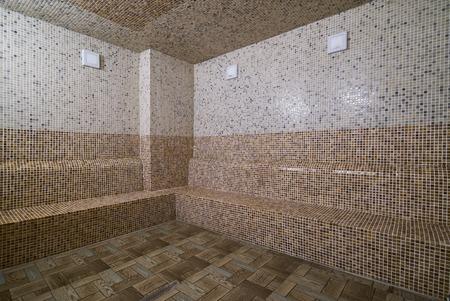 traditional turkish bathroom hammam interior in spa Stock Photo