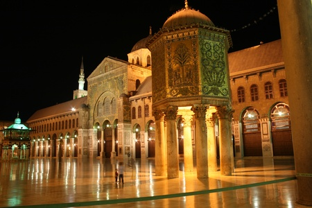 the Grand Mosque of Damascus, Syria