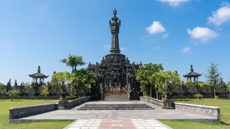 spiritual architecture: Bajra Sandhi Monument in Denpasar, Bali on a Sunny Day
