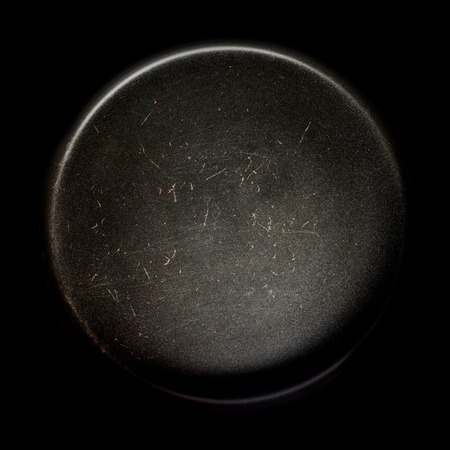 Pan in the form of a planet or Celestial Frying Pans. Banco de Imagens