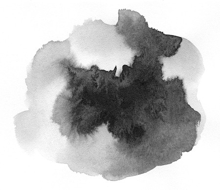 Abstract gray spot on white background. Ink drop. Gray color. Abstract background and illustration texture for design and formalization.