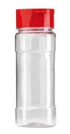 Empty jar for seasoning isolated Foto de archivo