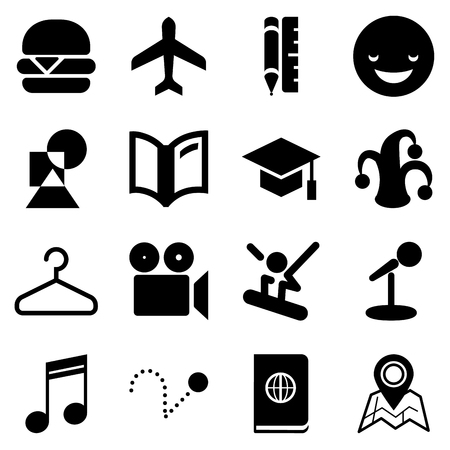 Traveling icons for Web and Mobile App