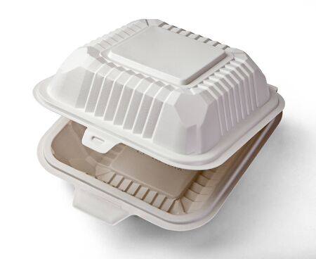 Burger Box. A white food box, packaging for hamburger, lunch, fast food, burger and sandwich Stock fotó