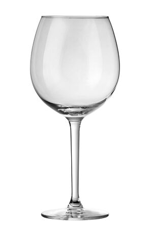 Empty glass for wine isolated on white background with clipping path Stock fotó