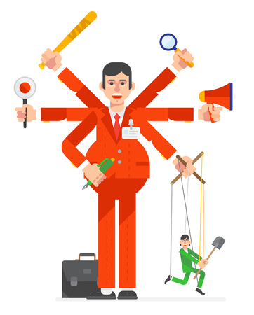 Businessman characters working. Vector illustration design. Illustration