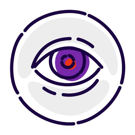 Eye, exclusive logo, emblem. Vector flat icon.