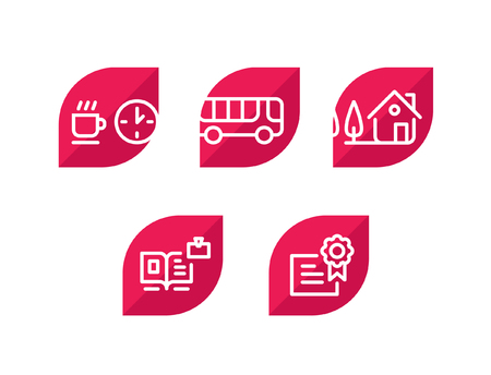 Various icons. Set of amazing icons for the site and the project. Sign, logo, emblem for the company.