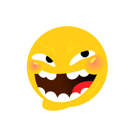 Smiley. Internet meme. Vector. Emotional smiley for expressions in social networks, chat rooms, messages, mobile and web applications. Emoji yellow face. Symbol, icon.