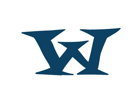 Latin letter W. Vector. Logo for the company. Icon for the site. Separate letter from the alphabet. Barbed pleasant shape.