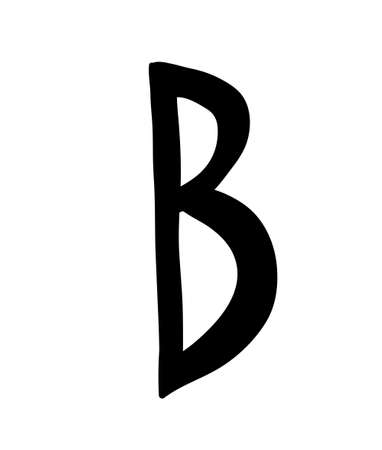 Bumpy elongated font.  Capital letter. Uneven font. 矢量图像