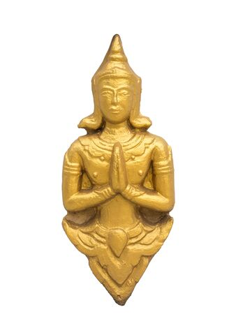 stucco: golden thai stucco of angle Stock Photo