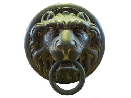 ancient lion: Art Ancient Lion Head Handle