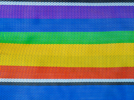 closeup Colorful fabrics Nylon texture Stock Photo