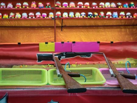 toy guns at a Temple Fair in Bangkok , Thailand Stock Photo