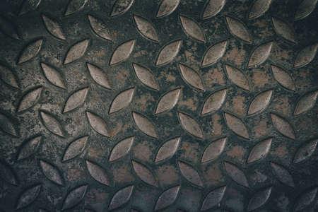 diamond plate: close up diamond steel plate texture background