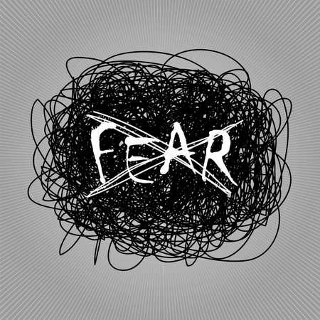 Hand drawn no fear concept vector illustration