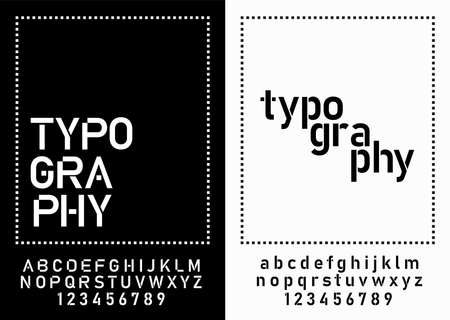 modern alphabet fonts and numbers. designs for logo, Poster, Invitation, etc. Typography font uppercase and lowercase. vector illustrator Ilustração
