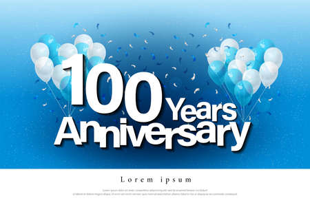 Ten years anniversary greeting card with candels confetti and