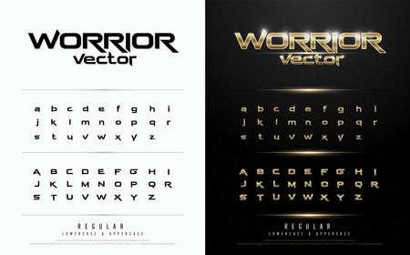 Exclusief goud Letters typografie normale lettertype digitale en sport concept. vector illustratie