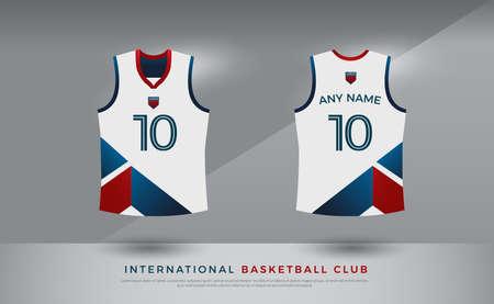 basketball t-shirt design uniform set of kit. volleyball jersey template.
