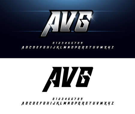 Diseños de alfabeto plata metalizado y efecto. Elegante fuente cursiva de tipografía de letras plateadas. concepto de tecnología, deporte, película y ciencia ficción. ilustrador vectorial