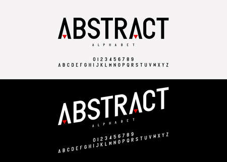 Abstract modern alphabet font. typography fonts uppercase regular and italic fashion concept design. vector illustration