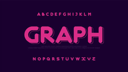 Modern font creative rounded alphabet color fonts. Typography urban round bold. vector illustration